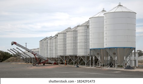 Augers and Silos at Tungamah Victoria