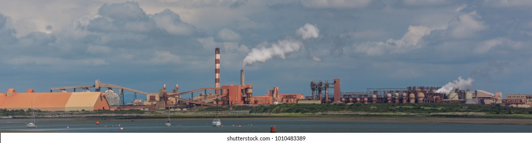 Aughinish Alumina Refinery, Foynes,Ireland - 23rd July 2017: The Aughinish Alumina Refinery on the Shannon Estuary near Foynes, Co Limerick, it is The largest alumina refinery in Europe.