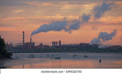 Aughinish, Co. Limerick / Ireland - May 25 2018: Aughinish Alumina industrial plant at dawn