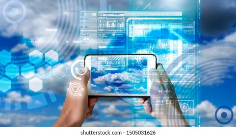 Augmented Reality device using smart technology, mixing virtual and augmentation reality through the application of artificial intelligence and computer AI tech assistance for weather checking