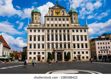 Augsburg, Germany - August 15, 2018 : View of Augsburg's Town Hall