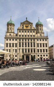 Augsburg, Germany - May 18, 2019:  View of Augsburg's Town Hall