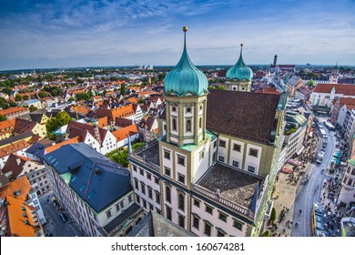 Augsburg Germany old townscape.
