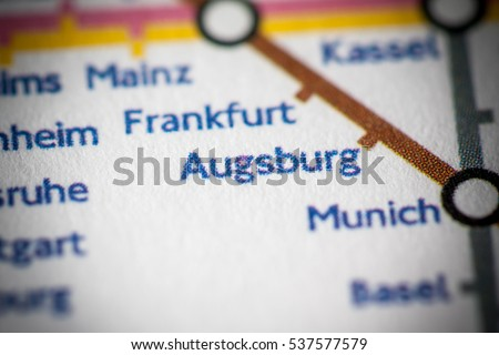 Augsburg Germany On Geographical Map Stock Photo Edit Now