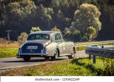 Augsburg, Germany - September 30, 2018: Rolls Royce oldtimer car at the Fuggerstadt Classic 2018 Oldtimer Rallye.