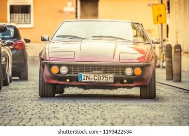 Augsburg, Germany - September 30, 2018: 1974 Bitter CD oldtimer car at the Fuggerstadt Classic 2018 Oldtimer Rallye.