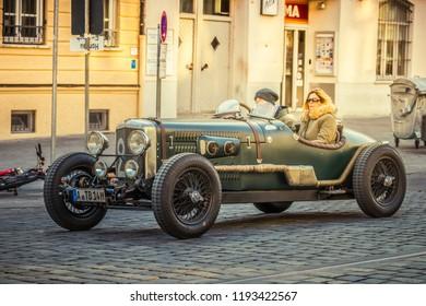 Augsburg, Germany - September 30, 2018: 1947 Alvis TA14 Spezial OTS oldtimer car at the Fuggerstadt Classic 2018 Oldtimer Rallye.