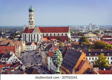 Augsburg, Germany skyline.
