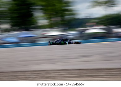 August 03, 2019 - Watkins Glen , New York, USA: Kurt Busch (1) takes to the track to practice for the Go Bowling at The Glen at Watkins Glen International in Watkins Glen , New York.