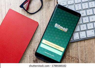 August 03, 2020, Brazil. Bitmoji app.