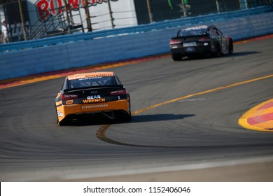 August 05, 2018 - Watkins Glen , New York, USA: Jamie McMurray (1) battles for position during the Go Bowling at The Glen at Watkins Glen International in Watkins Glen , New York.
