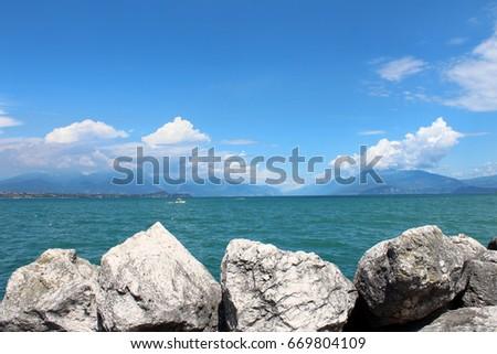 b44a29eb1 August 1 2016 Garda Lake Lago Stock Photo (Edit Now) 669804109 ...