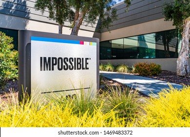 August 1, 2019 Redwood City / CA / USA - Impossible Foods corporate headquarters in Silicon Valley; Impossible Foods Inc. is a company that develops plant-based substitutes for meat and dairy