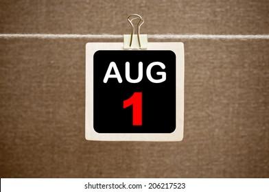 August 1 calendar