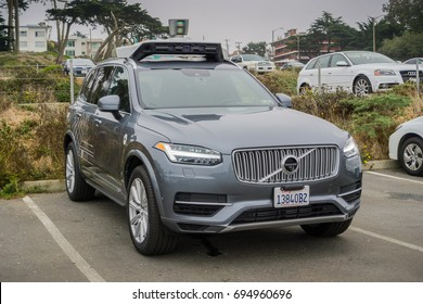 August 10, 2017 San Francisco/CA/USA - Uber self-driving cars have been allowed to run tests in San Francisco starting with March