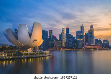 August 10, 2018: artscience, a museum within the integrated resort of Marina Bay Sands at Central Area in Singapore, was Opened on 17 February 2011 and is the first ArtScience museum of the world.