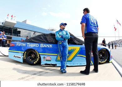August 10, 2018 - Brooklyn, Michigan, USA: Martin Truex, Jr (78) hangs out on pit road prior to qualifying for the Consumers Energy 400 at Michigan International Speedway in Brooklyn, Michigan.