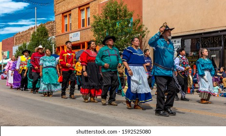 AUGUST 10, 2019 - GALLUP NEW MEXICO, USA - Portraits of Native Americans & Navajo at 98th Gallup Inter-tribal Indian Ceremonial, New Mexico