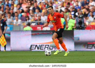 AUGUST 10, 2019 - KYIV, UKRAINE: Taras Stepanenko runs and dribbles very fast with the ball using spectacular moves. Ukrainian Premier League.