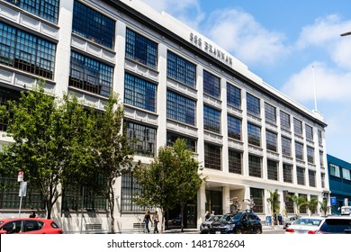 August 10, 2019 San Francisco / CA / USA - AirBnb headquarters building, 888 Brannan street, in the SoMa district