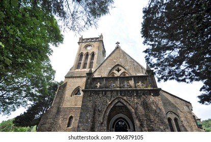 August, 11, 2013: Christ Church, Kasauli, in India's Himachal state, was built by the British in 1844. The structure is built in the shape of a cross and set amidst a grove of chestnut and fir trees.
