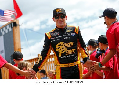 August 11, 2018 - Lexington, Ohio, USA: Daniel Hemric (21) gets introduced for the Rock N Roll Tequila 170 at Mid-Ohio Sports Car Course in Lexington, Ohio.