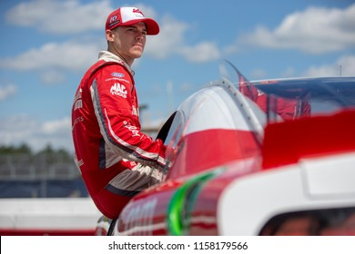 August 11, 2018 - Lexington, Ohio, USA: Ryan Reed (16) gets ready to qualify for the Rock N Roll Tequila 170 at Mid-Ohio Sports Car Course in Lexington, Ohio.