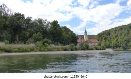 August 11, 2018. Weltenburg Abbey is a Benedictine monastery in Weltenburg near Kelheim on the Danube in Bavaria, Germany