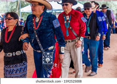 AUGUST 11, 2019 - GALLUP NEW MEXICO, USA -Native Americans at Ceremonial Song and Dance at 98th Gallup Inter-tribal Indian Ceremonial, New Mexico