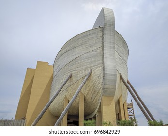 August 11,2017 Ark Encounter Williamstown, Kentucky - Christian Evangelical Theme Park Life-size Noah's Ark