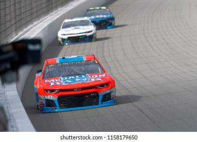 August 12, 2018 - Brooklyn, Michigan, USA: Darrell Wallace, Jr (43) battles for position during the Consumers Energy 400 at Michigan International Speedway in Brooklyn, Michigan.