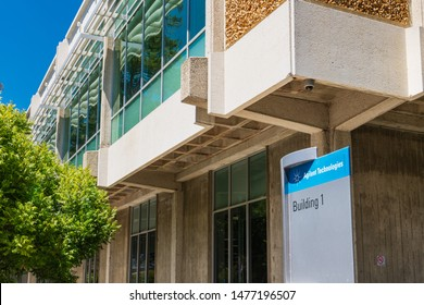 August 12, 2019 Santa Clara / CA / USA - Agilent Technologies headquarters in Silicon Valley; Agilent Technologies, Inc. is an American public research, development and manufacturing company