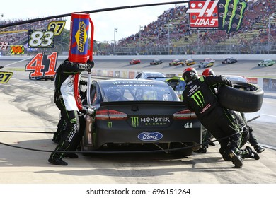 August 13, 2017 - Brooklyn, Michigan, USA: Kurt Busch (41) brings his car down pit road for service during the Pure Michigan 400 at Michigan International Speedway in Brooklyn, Michigan.