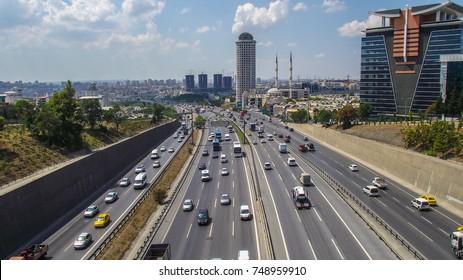 AUGUST 15, 2012 Istanbul, Turkey - O-3 Istanbul highway
