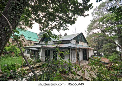August 15, 2017: An old house, from the British times, in Kasauli, Himachal Pradesh state, India. Hundreds of such mansions are now being renovated all over the state to give them a more modern look