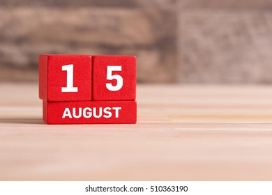 AUGUST 15 CALENDER DAY