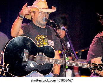 """August 16, 2011 - Athens, GA - Jason Aldean. Country artist Colt Ford rounded up his friends to hold a benefit for the family of Elmer """"Buddy"""" Christian."""