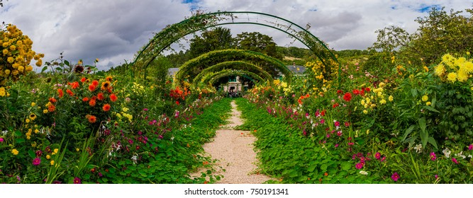 AUGUST 17, 2017: Wonderful Giverny Garden and Claude Monet House Normandie France Europe