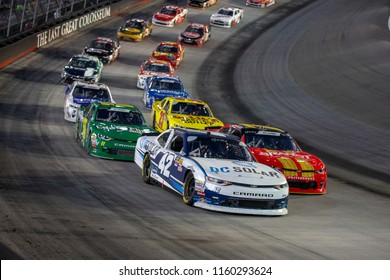 August 17, 2018 - Long Pond, Pennsylvania, USA: Justin Marks (42) races through the field off turn four at the Gander Outdoors 400 at Pocono Raceway in Long Pond, Pennsylvania.