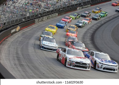 August 17, 2018 - Long Pond, Pennsylvania, USA: Cole Custer (00) races through the field off turn four at the Gander Outdoors 400 at Pocono Raceway in Long Pond, Pennsylvania.