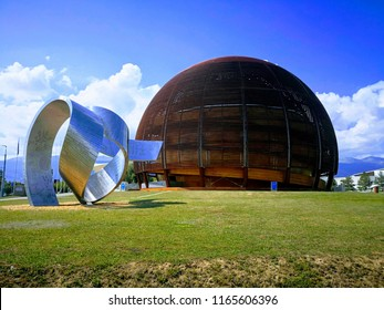 August 18, 2018 - Geneve, Switzerland - The Globe of Science and Innovation is a visitor center, designed to inform visitors about the significant research being carried out at CERN