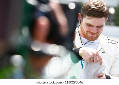 August 18, 2018 - Long Pond, Pennsylvania, USA: CONOR DALY (88) of the United States take to the track for the ABC Supply 500 at Pocono Raceway in Long Pond, Pennsylvania.