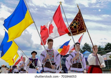 August 19, 2017. Toronto, Canada Largest Ukrainian diaspora celebrating 26 Ukrainian Independence Day at Centennial Park in Toronto, ON, Canada