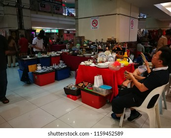 August 19, 2018 - KUALA LUMPUR, MALAYSIA. Malaysian local collectors were selling their collectibles at local mall in Malaysia. Blurry motion of photo when viewed at full resolution.
