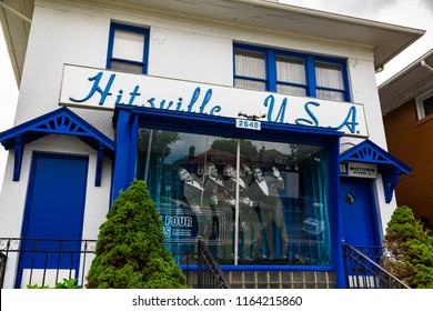 August 19. 2018. Motown Historical Museum. The Hitsville U.S.A. Motown building at 2648 West Grand Boulevard in Detroit, Michigan, USA.