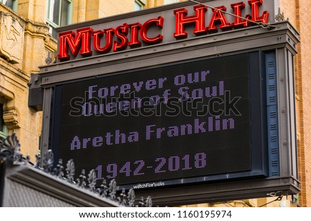 August 19 2018 Music Hall Center Stock Photo Edit Now 1160195974