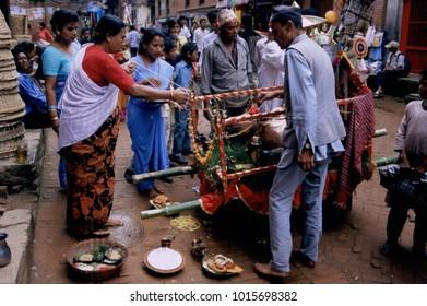 August 2004 - Nepal, Bhaktapur Gaj Jatra cow festival