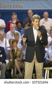 AUGUST 2004 - Senator John Kerry addressing audience of seniors at the Valley View Rec Center, Henderson, NV
