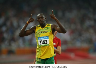 At the August 2008 China Beijing Olympics, Usain Bolt became the first sprinter to win three gold medals in three Olympics, after Carl Lewis won three gold medals.
