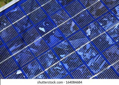 AUGUST 2009 - SWITZERLAND: solar cells necessary for producing solar energy.